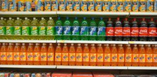 Soft drinks in super market