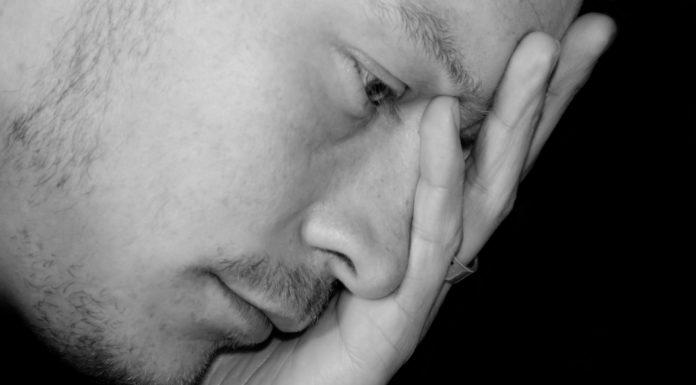 A sad, depressed man