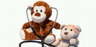 Teddy bear treating toy