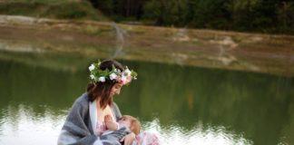 Breastfeeding a baby