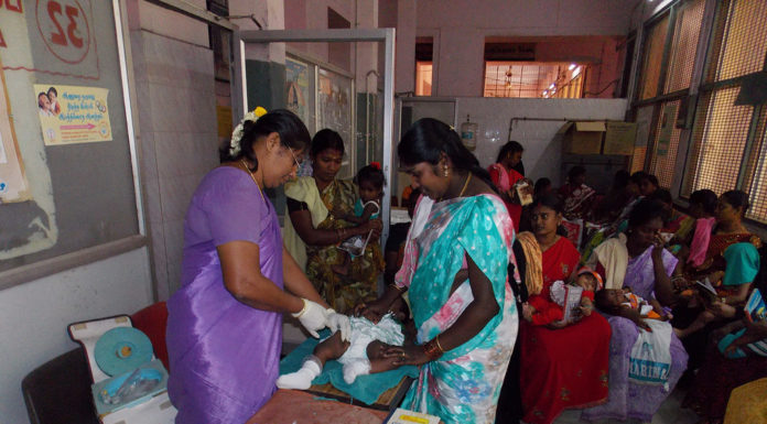 Public health, mothers in govt hospital in India