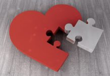 Heart shaped jig saw puzzle