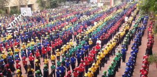 School Assembly in noon