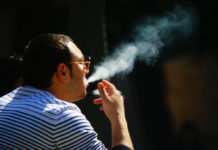 fat man smoking