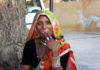 Rajasthani woman smoking. Pic: Kandukuru Nagarjun