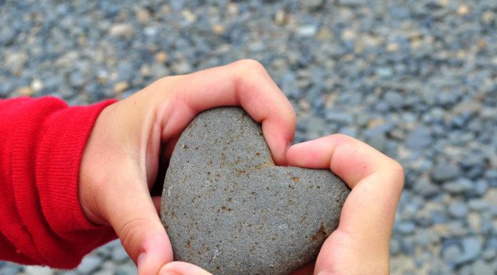 Heart in child's hand